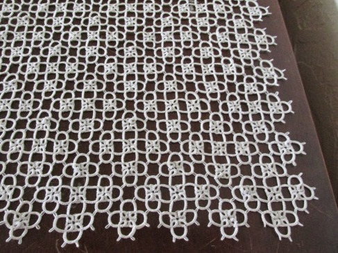 Anne's tatted altar cloth lace