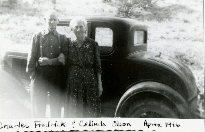 charles and celinda with car 1946