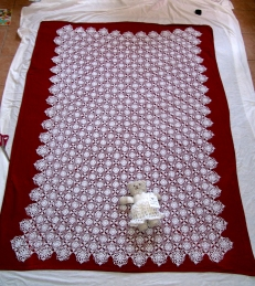 Carolyn's Lace for the Lord: 425 square altar cloth-- worth every stitch a thousand times over.