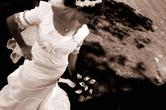 Handmade Irish lace wedding gown