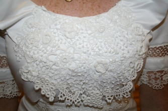 Irish lace bodice piece