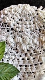 Grandma Lillie's Lace Bonnet, detail side