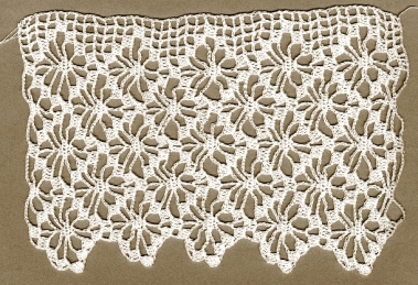 Star Lace Edging, detail