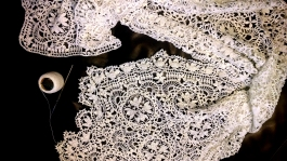 Linnaea Borealis Ebenezer lace, a work in progress, almost complete.